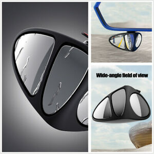 2pcs Blind Spot Mirror 360 Rotation Rear View Mirror Fit For Car Left+Right Side