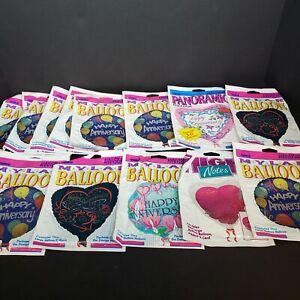 Lot Of 13 Vintage Anagram Happy Anniversary Mylar Baloons