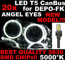 N° 20 LED T5 5000K CANBUS SMD 5630 DEPO FK Angel Eyes Headlights VW Golf MK4 1D6