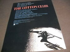 COTTON CLUB Harlem 1929 - The Music Is Now 1984 PROMO POSTER AD mint condition