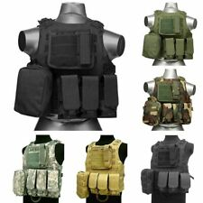 Tactical Vest Military Assault Airsoft Paintball Molle Plate Carrier Combat Gear