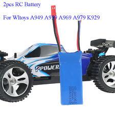 2pcs RC 7.4V 1200mAh Batería para WLtoys VA949 A959 A969 A979 K929 Quadcopter