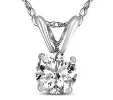 "5.16ct VS2/H Round Cut  Solitaire diamond pendant 14k White gold With 18"" Chain"