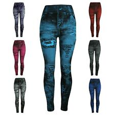 Women Leggings Stretch Jeggings Skinny Cropped Trousers Ankle Length Pants S~3XL