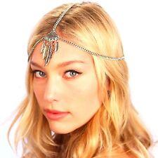 Kristin Perry Boho Leaf Chain Headpiece