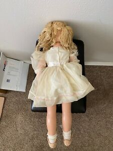 Composition doll, 27 in , vintage