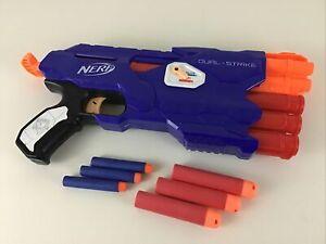 Nerf N-Strike Elite Dual-Strike Soft Dart Blaster Gun Mega Rounds 2015 Hasbro