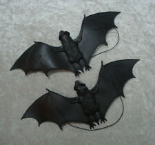 "PAIR of 13.5"" Hanging Rubber Halloween Bats"