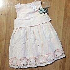 Jillian's Closet Boutique Girls Soft Pink Sz. 2T Lace/Woven  Dress - BNWT boho