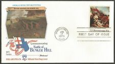 US FDC.US 1975 BUNKER HILL 10C STAMP #1564 BRITISH ADVANCE ON BUNKER HILL. MA