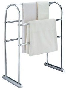 Towel Rail Stand Freestanding Chrome Rack Arched Curved, Cecil