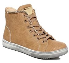 New Womans Snakeskin Tan Hitop Wedge Trainer Sneaker Pump Sports Ankle Boot