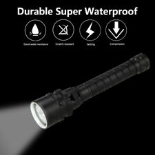 Underwater 100m 6000LM 3X XM-L T6 LED Scuba Diving Flashlight Lamp Torch 18650