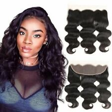 Best Free Part 13×4 Nature Black Body Wave Human Hair Lace Closure By XSYHair