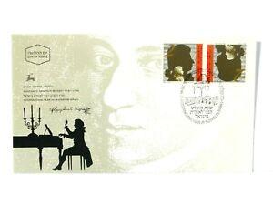 1991 Mozart 200th Death Anniversary Israel FDC #2