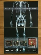 Unreal Tournament Game of the Year PC 2000 Vintage Print Ad/Poster Official Art