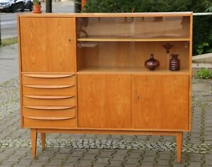 Hellerau 602 Vitrine Highbord TRUE VINTAGE Franz Ehrlich Bauhaus 60er Kommode