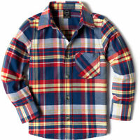 CQR Kids Little Boys Girls Baby Plaid Flannel Shirt
