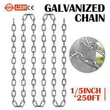"""Chain Sling G30 3/16""""x250' Zinc Plated Proof Coil Chain Towing Pulling"""