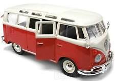VW VAN BUS SAMBA 1:25 Scale Diecast Model Car Die Cast Models Cars Camper Red