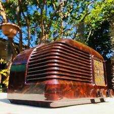 GORGEOUS DECO 1940's STC BANTAM bakelite valve radio