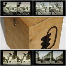 4 ANCIENNES PHOTOS PLAQUE de VERRE POSITIF sur PARIS MONTMARTRE RIVOLI ca 1900