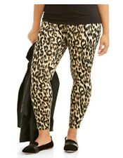 Faded Glory Plus Size Leggings 4X 26/28 Womens Cheetah Footless Cotton NWT