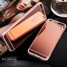 Luxury Aluminum Ultra-thin Mirror Soft Case Cover for Apple iPhone 5S 6 6S Plus