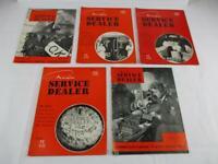 5 Vintage Radio Service Dealer June April 1943  Jan Feb April 1941