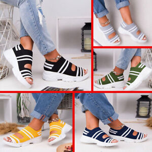 Womens Ladies Sandals Sports Casual Beach Summer Shoes Outdoor Indoor Size 35-43