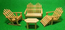 1:12 Scale Wooden Garden Set Dolls House Miniature Garden Furniture Accessory