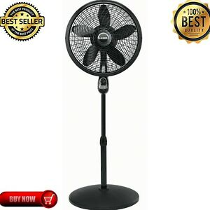 """Lasko 18"""" 3-Speed Oscillating Cyclone Pedestal Fan with Remote and Timer, 1843"""