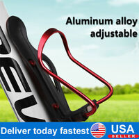 2PCS Aluminum Adjustable MTB Bike Cycling Water Bottle Cage Holder Gift Screw