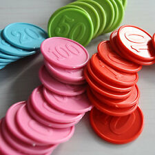 80 Plastic Pop  Poker Chips - Color Random
