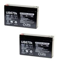 NEW 2 PACK UPG UB670 6V 7AH Replacement battery 6V Audi R8 Spyder Model # W458AC