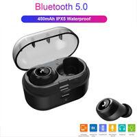 IPX5 Casque sans fil TWSMini bluetooth5.0 écouteurs intra-auriculaires 5D stéréo