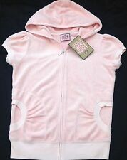 NWT Juicy Couture New Genuine Ladies Small S/S Pale Pink Cotton Towelling Hoody