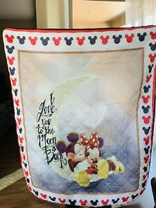 Mickey and Minnie Love You to the Moon and Back Fleece Blanket