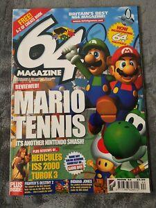 64 Magazine Issue 44 Nintendo - Mario Tennis