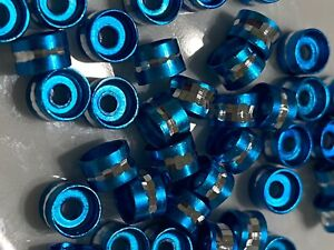 40 Plated 4mm Spacer Tube Beads BLUE