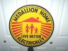 """Medallion Home Live Better Electrically Sign / 23"""" In Diameter / Retro /Display"""