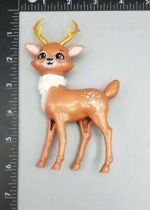 Plastic Deer Reindeer Figurine Toy Anthropomorphic Christmas Reindeer Decoration