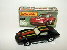 Matchbox Superfast No 62 Chevrolet Corvette OPAQUE Glass SILVER BASE VNMIB RARE