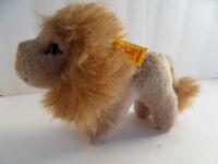 Steiff lion small  w button flag stuffed animal Germany 2299