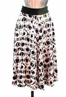 Ladies M&S Collection Size 8 12 14 16 18 20 Black/White Viscose Skirt Bnwt/Bnwot