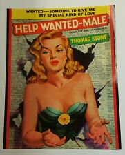 """ Help Wanted - Male ""  Sexy Vintage Pulp Novel Cover Art Poster /  22""x28"""