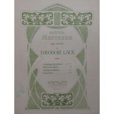 Laca Theodore Le Susurro De La Fuente Piano 1905 Partitura Sheet Music Score