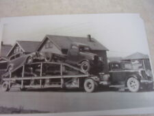 NEW 1935 CHEVROLET CARS AN TRUCKS ON CAR HAULER   11 X 17  PHOTO  PICTURE