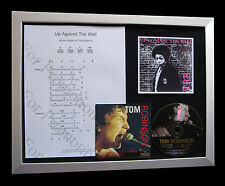 TOM ROBINSON Against Wall TOP QUALITY MUSIC CD FRAMED DISPLAY+FAST GLOBAL SHIP