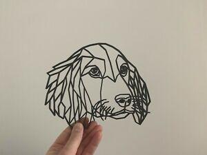 Geometric Cocker Spaniel Dog Animal Wall Art Decor Hanging Decoration